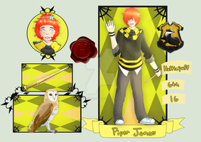 Admoneo: Hufflepuff- Piper Jones by KitsPokePeople