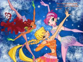 Winx on Ice with Layla or Aisha, Stella, and Tecna by xXLolipopGurlXx