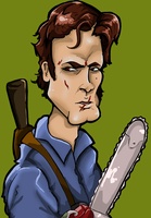 Bruce Campbell caricature by Greendayrox489