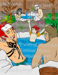 Boys At The Hot Springs by YintoYang