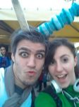 selfie with a fan :3 (lucca comics and games 2014) by darkrenegade92