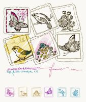 Bird Butterfly Blossom Stamps by feanne