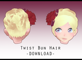 Twist Bun Hair [ DOWNLOAD ] by Aia-Aria