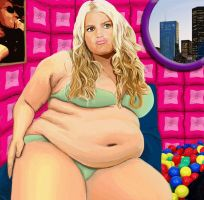BBW Weight Gain Jessica Simp by CulturalTaboo