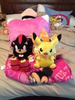 Shadow the Hedgehog Plush And Pikachu Cosplay... by OceanMelodyUnicorn