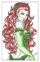 Ivy Print - Grayscale by AerianR