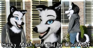 Siberian Husky Mask and Tail SOLD by WindWo1f