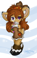 Gingerbread Cutie Chibi by WaterGleam