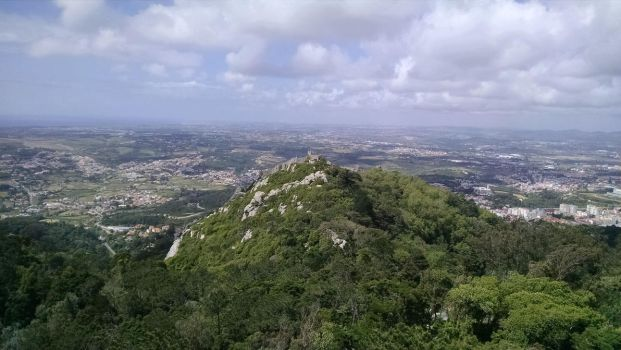 View from Pena Palace, Sintra, Portugal by dsazor