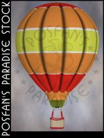 Hot Air Balloon 028 by poserfan-stock
