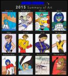 Artie-stico17's 2015 Art Summary by Artie-stico17