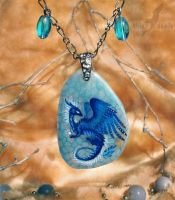 The Heart of Ice - stone painting miniature by AlviaAlcedo