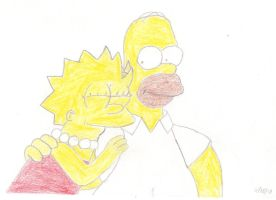 Homer and Lisa Moment 2 by MarioSimpson1