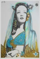 Lady of the Tropics - Mixed Media, Traditional Art by JaiAnarkali