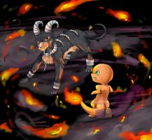 Battle 2: VS Houndoom by Angel-soma