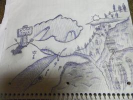 Sketches - Over Every Mountain - Inked by Keybourd-Man