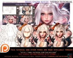 Miss Snow Kitty video tutorial pack.promo. by sakimichan