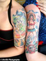 colorfull half sleeves by AkashaDeville