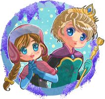 Frozen: Elsa and Anna by Hadibou