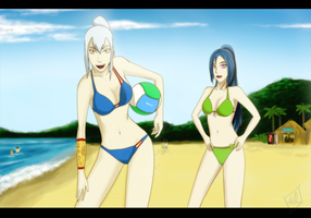 Beach volleyball by OrangeBox01
