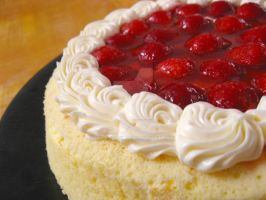 Strawberry Japanese Cheesecake by meechan