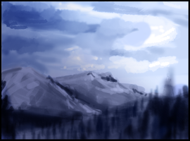"Landscape  ""no tablet"" by Kelsi-sama"