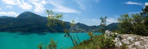 Wolfgangsee Walk Panorama by clush