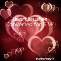 Heart Bokeh Brushes - Converted for GIMP by thethiirdshift