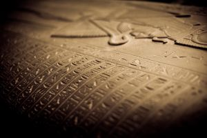 Lid of Egyptian Sarcophagus by noelholland