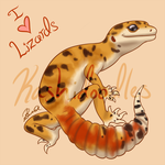 I (Heart) Lizards! by Kashidoodles