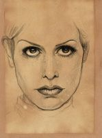Unpleased Woman Face Sketch by RainbowMoonJuice