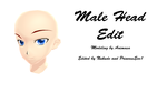 Male Head Base Edit + DL by PrincessEve1