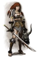 Female warrior Red Sonja by Wiggers123