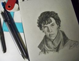 30 Days of Sketches-Day 7,Sherlock by MariaHasAPaintBrush