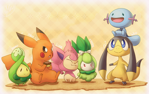 Little pokes by Millaii