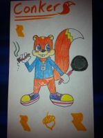 Conker the Squirrel by airbornewife71