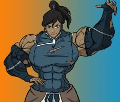 Korra the jacked Avatar by MuscularTophFan