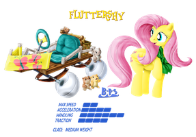 PonyKart - Fluttershy 2 by Blue-Paint-Sea