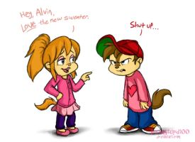 Alvin's Cute New Sweater by BoredStupid100