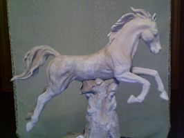 Clay Horse Sculpture by Live-Beautifully