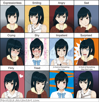Expression Meme - Nicole by PerotiBia