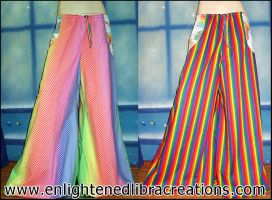 Reversible Rainbow Brite Pants by RedheadThePirate