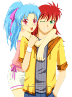 Commission: Botan x Kurama by Ginryuzaki