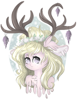 .:Redraw:. Lavendeer by HamaTTe