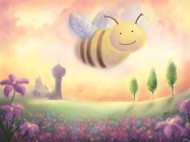 Happy Bee by Bakenius