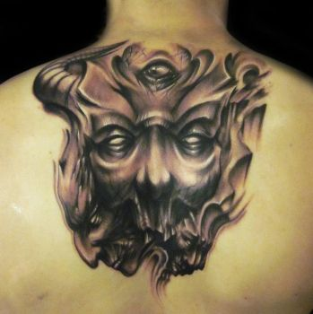 Freehand evil back session by hatefulss