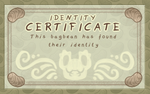 Identity certificate by griffsnuff