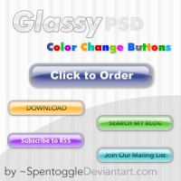Glassy Color Change Buttons by spentoggle