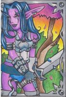 Nightelf Tank ATC colored by lilena