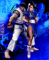 Ryu X Chun Li Version 2  by BeeVue